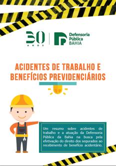 Folder – Acidentes de trabalho e beneficiários previdenciários