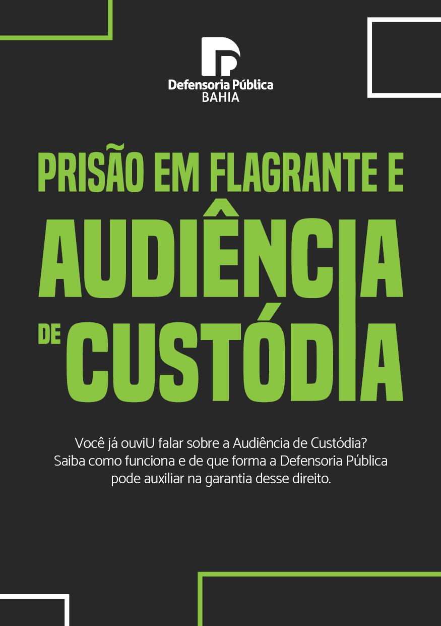 Folder – Prisão em Flagrante e Audiência de Custódia