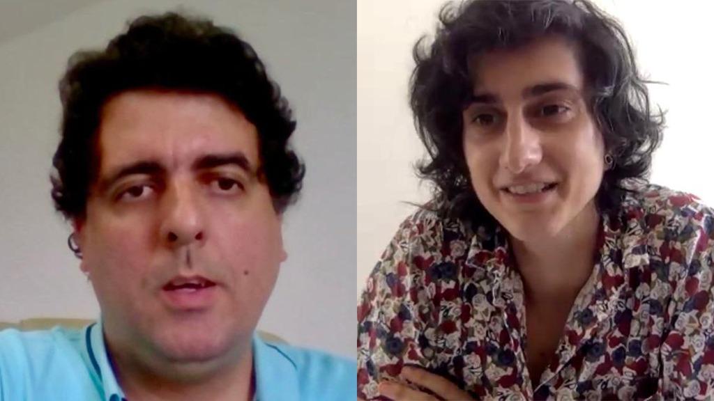 O DPG Rafson Ximenes em conversa pela internet com a pesquisadora Maria-Fátima Santos